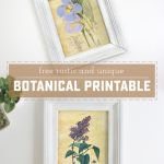 Rustic and Unique Botanical Free Printable