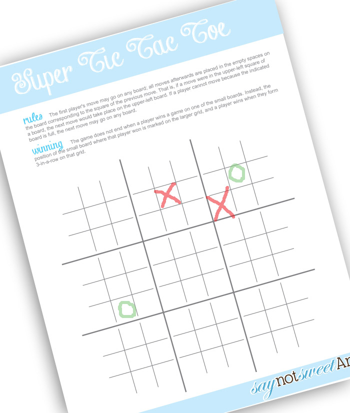 picture regarding Free Printable Tic Tac Toe Board named Tic Tac TAWESOME!! [Absolutely free Printable] - Cute Anne Types