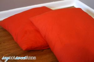 Almost Instant Pillow Makover at saynotsweetanne.com