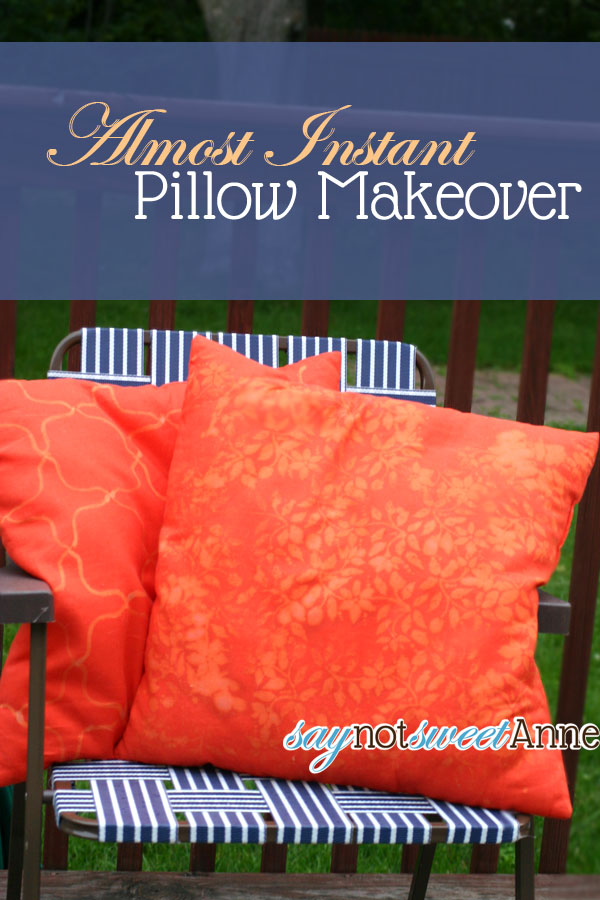 Almost Instant Pillow Makover at saynotsweetanne.com - Take these cheap Ikea pillows and make them amazing!!