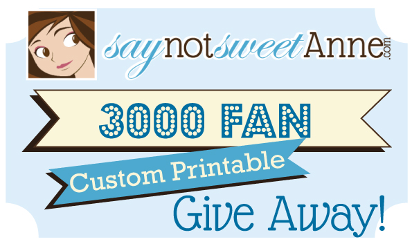 Sweet Anne's 3000 Like Giveaway!