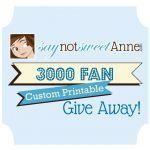 3000 Fan Giveaway!