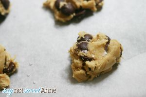Amazing Chocolate Chip Cookie Recipe! Chocolatey and a little salty @saynotsweetanne.com