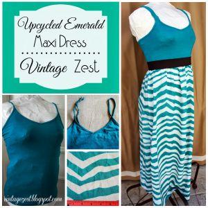 Emerald Striped Maxi Dress