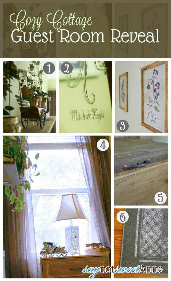 Cozy Cottage Guest Room Decor | saynotsweetanne.com | #home #cozy #comfort #rustic