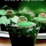 Easy to make Halloween Cupcakes! + Cut file for fence cupcake wrappers! #halloween #cupcakes #cute #party via Saynotsweetanne.com