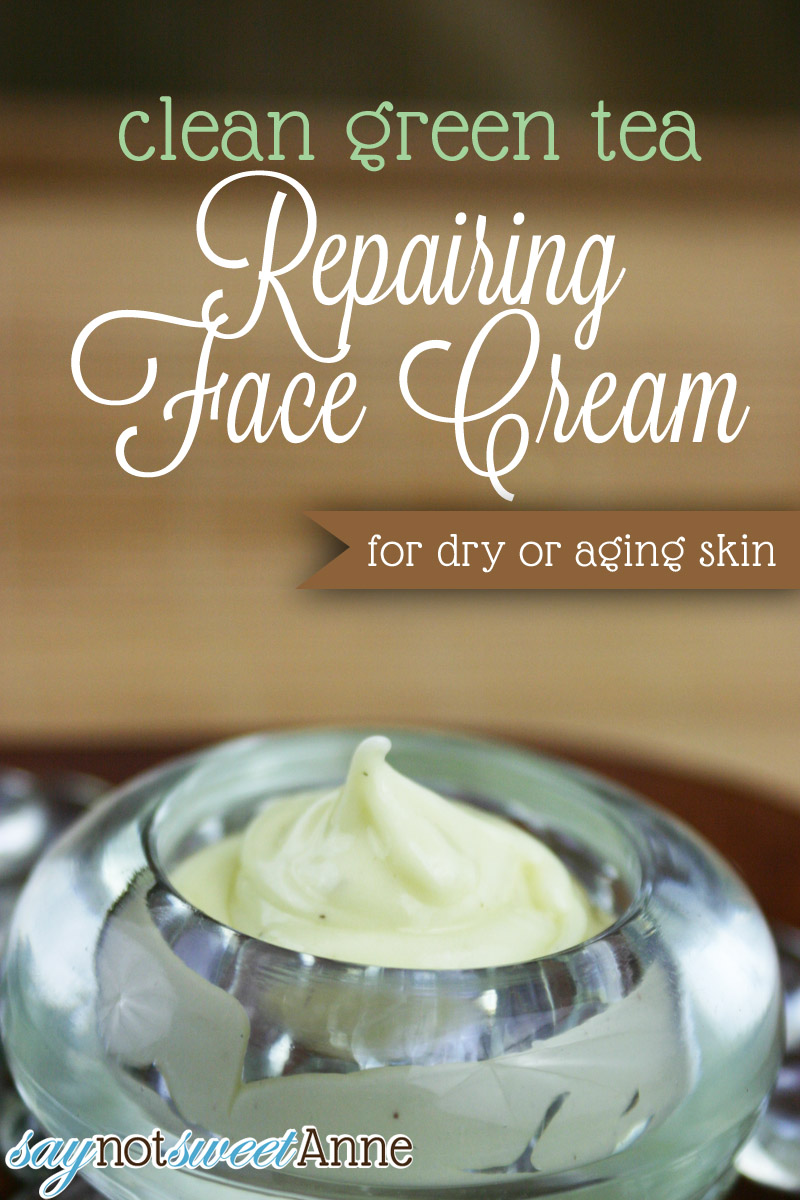Green Tea Repairing Face Cream Recipe