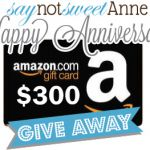 2 Year Blog Anniversary Celebration and $300 Amazon Giveaway