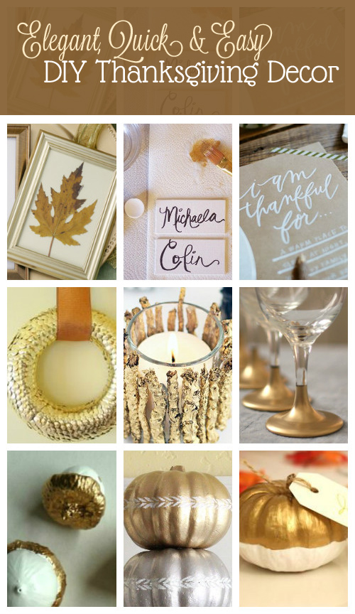 Elegant Diy Thanksgiving Decor Sweet Anne Designs