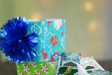 DIY Packaging Tape Luminaries | saynotsweetanne.com | #EZStart #Holiday #DIY