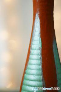 Tree Painted Christmas Vase - Paint crisp lines even on textured surfaces! | saynotsweetanne.com | #diy #TexturedSurface #Christmas