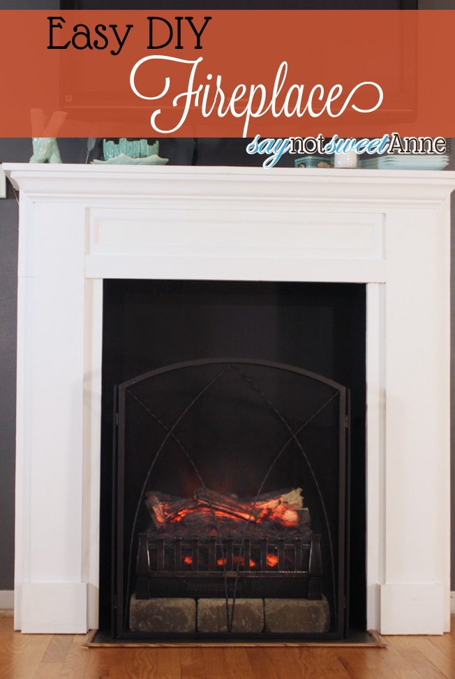 Easy DIY Fireplace - Sweet Anne Designs