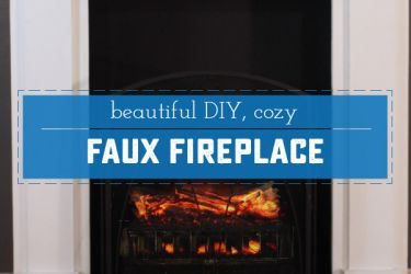 DIY Easy & Removable Fireplace - Create a beautiful and believable fireplace on the cheap. Moving? Take it with you! | Saynotsweetanne.com | #diy #renovation #fireplace #apartment