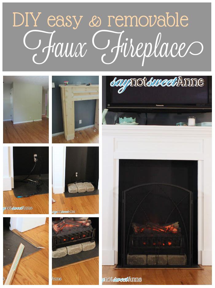 Easy Diy Fireplace Sweet Anne Designs