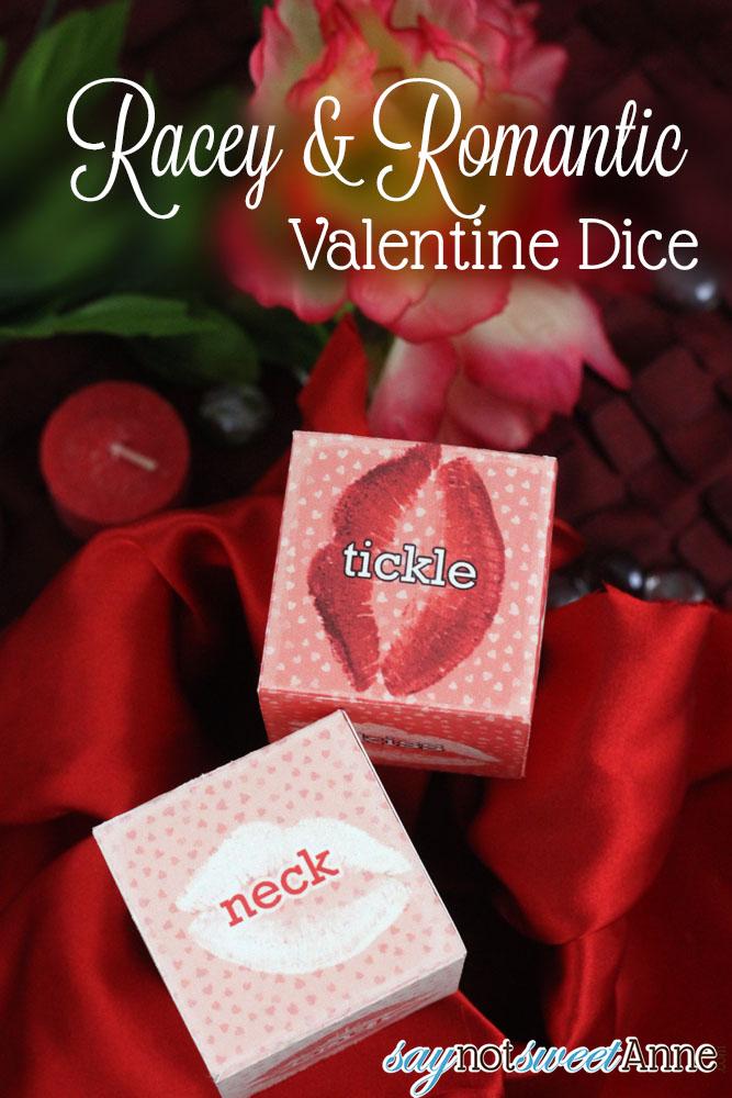 Romantic Printable Valentine Dice | Saynotsweetanne.com | #diy #valentine #romantic #date