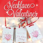 Jeweled Printable Valentines Necklace