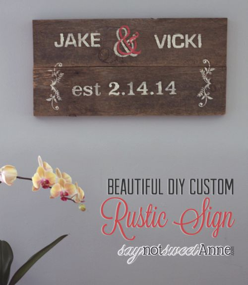 Step by Step Rustic Sign for Home Decor | saynotsweetanne.com | #diy #rustic #decor #wood