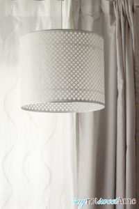 Beautiful DIY Lamp shade - knock off of $400 model for $25! | saynotsweetanne.com | #decor #diy #lamp