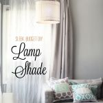 DIY Swag Lamp Designer Shade