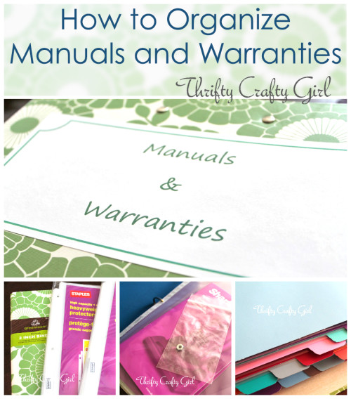 Organize you manuals and warranties - once and for all! | saynotsweetanne.com | #organize #diy