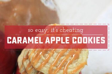 Caramel Apple Cookies - Delicious, out of the ordinary, and easy to whip up in a hurry!   Saynotsweetanne.com   #apple #cookies #caramel #dessert