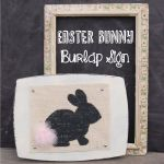 Easter bunny Burlap Sign