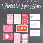 Printable Love Notes & Tin