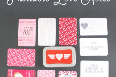 Sweet Printable Love Notes in a tin! Upcycle an old Altioids tin to house these sweet, personal sayings   saynotsweetanne.com   #love #card # tin #valentine