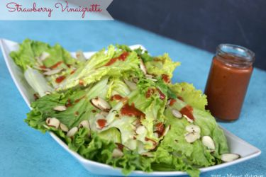 Simple Strawberry Vinaigrette - By BusyMomsHelper.com via SayNotSweetAnne.com - #strawberry #vinaigrette #saladdressing #summerfood