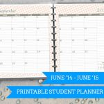 Printable Student Planner June '14 to June '15