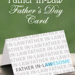 Printable Father In Law Card