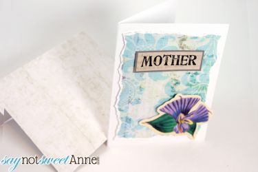 Beautiful DIY 3D Mother Card. Multiple uses and phrases! | saynotsweetanne.com | #MothersDay #card #printable