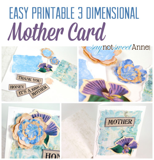 photograph relating to Printable Mothers Day Cards for Kids referred to as Printable Moms Working day Card within just 3D! - Cute Anne Ideas