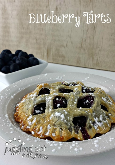 Blueberry Pie Tarts (Mini Pies) from Juggling Act Mama