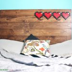 8 Bit Hear Headboard by Our Nerd Home