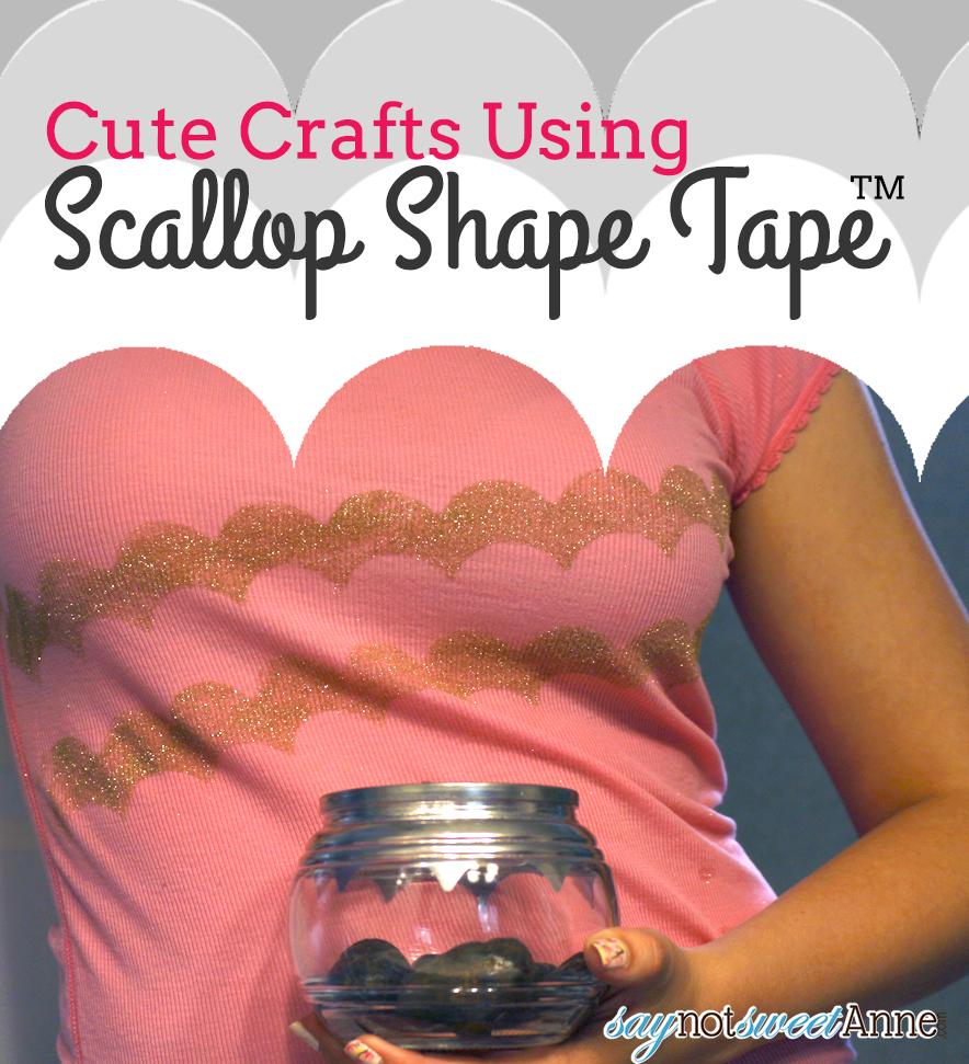 Two Easy DIY masking tape projects | saynotsweetanne.com | #diy #ShapeTape