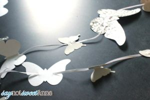Beautiful and Easy paper butterfly Mobile. | saynotsweetanne.com | #diy #baby #paper