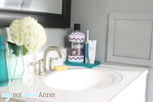 Listerine Chevron Patterned bottles. Limited time at Target! | saynotsweetanne.com | #ad #Listerine #decor #chevron