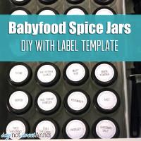 Baby Food Spice Jars + Free Label Template   saynotsweetanne.com   #diy #spicejar #organize #printable