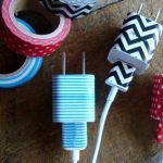 Organize Cords With Tape Via ShakenTogetherLife