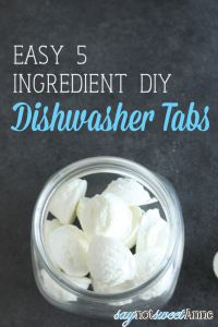 Easy DIY Dishwasher Tabs or Pellets. Easy to make, smell great and cheap! | saynotsweetanne.com | #diy #household #clean #frugal