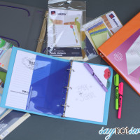 How to Organize for School with Binders. BONUS Custom Printable Binder Covers in Two Sizes!   Saynotsweetanne.com   #backtoschool #organize #printable #avery