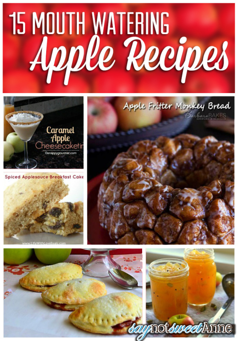 15+ Apple Recipes | saynotsweetanne.com | #recipe #fall #autumn #apple