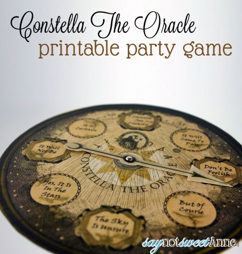 Constella The Oracle: Fun 8 ball like game for Halloween or any occasion! Print and make as many as you want! | saynotsweetanne.com | #halloween #party #game #spooky