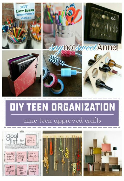 9 teen approved organization projects! Perfect for summer boredom, or just sprucing things up! | Saynotsweetanne.com
