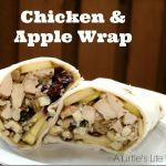 Chicken Apple Cranberry Wrap by A Turtles Life For Me