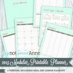 2015 Modular Printable Planner Line