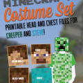Minecraft Printable Costume Set