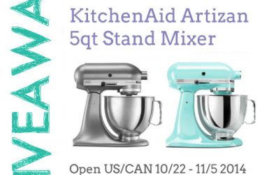 Enter to win a FREE KitchenAid Stand Mixer | saynotsweetanne.com | #giveaway #kitchenaid #mixer