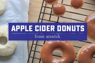 Caramel Apple Cider Donuts, made from scratch with a delicious apple cider glaze! | Saynotsweetanne.com | #fall #apple #caramel #recipe